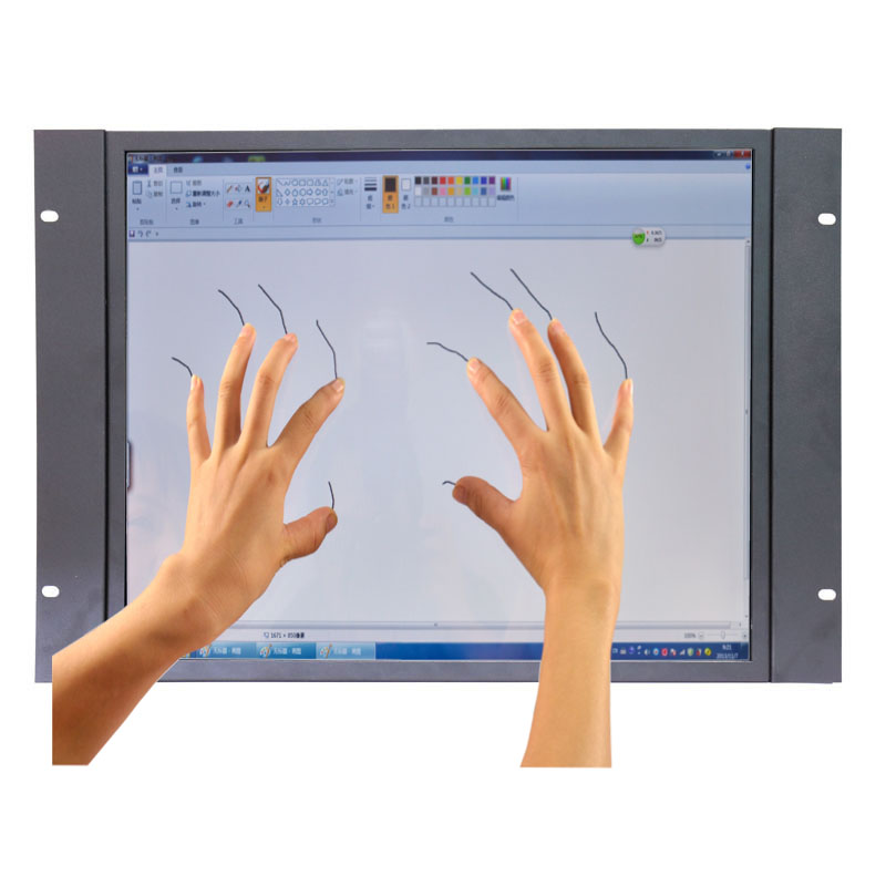 Новый емкостный сенсорный экран монитора 19 дюймов промышленных PCAP емкостный сенсорный экран монитор с AV/BNC/VGA/HDMI/USB интерфейс