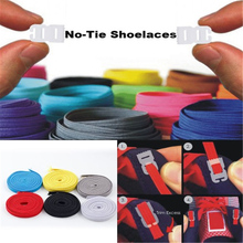 No Tie Shoelaces Sports Trainer Running Athletic Sneaks Shoe laces DIY