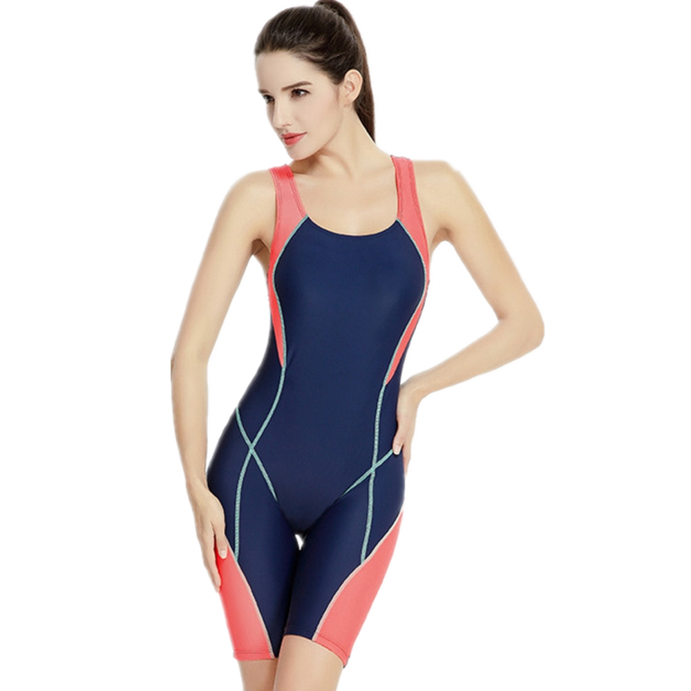 5 Styles Plus Size Women One Piece Sport Swimwear Professional Bathing Suit Training Fifth Pants Boxer Shorts Racing Swimsuit phinikiss printed racing swimwear large size one piece suit professional swimsuit sport bathing suit competition 2016 triathlon