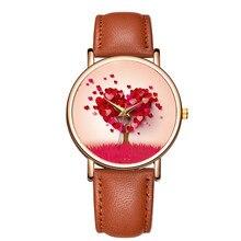 BAOSALI Red Cute Heart Tree Wedding Ladies Watches Fashion P