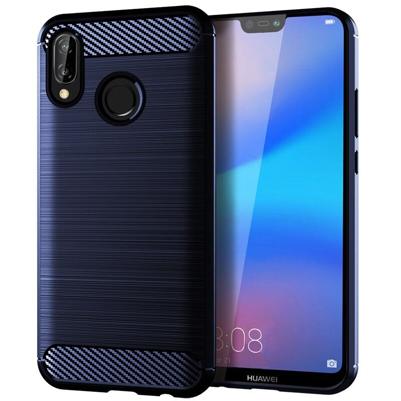 Phone Case For чехол huawei p20 lite Carbon Fiber Bumper Shockproof TPU Cases For huawei p20 lite чехол Silicone Cover in Fitted Cases from Cellphones Telecommunications