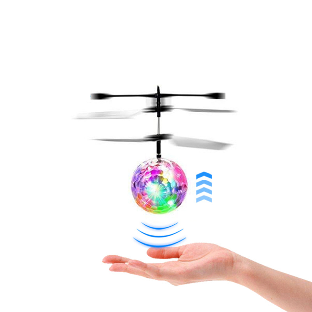 LoveCCD Luminous Light-up Toys Glowing LED Magic Flying Ball Sensing Crystal Flying Ball Helicopter Induction Aircraft Toys#30