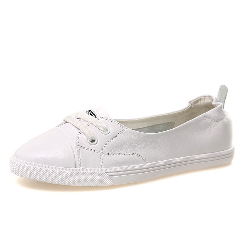 Genuine leather sneakers shallow white shoes women flats oxford slip on shoes women loafers ladies platform shoes zapatos mujer dadawen boy s girl s slip on loafers oxford shoes