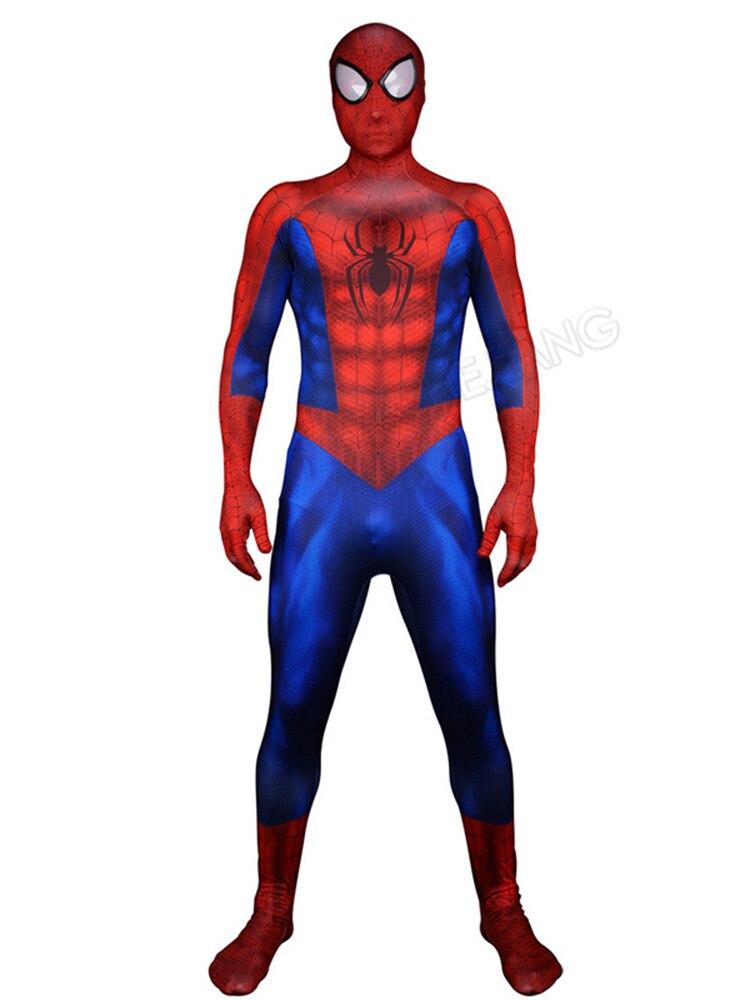Zentai Spider Superhero Bodysuit Adult Man Lycra Spandex Spider Super Hero Costume For Halloween Clothing Uniform