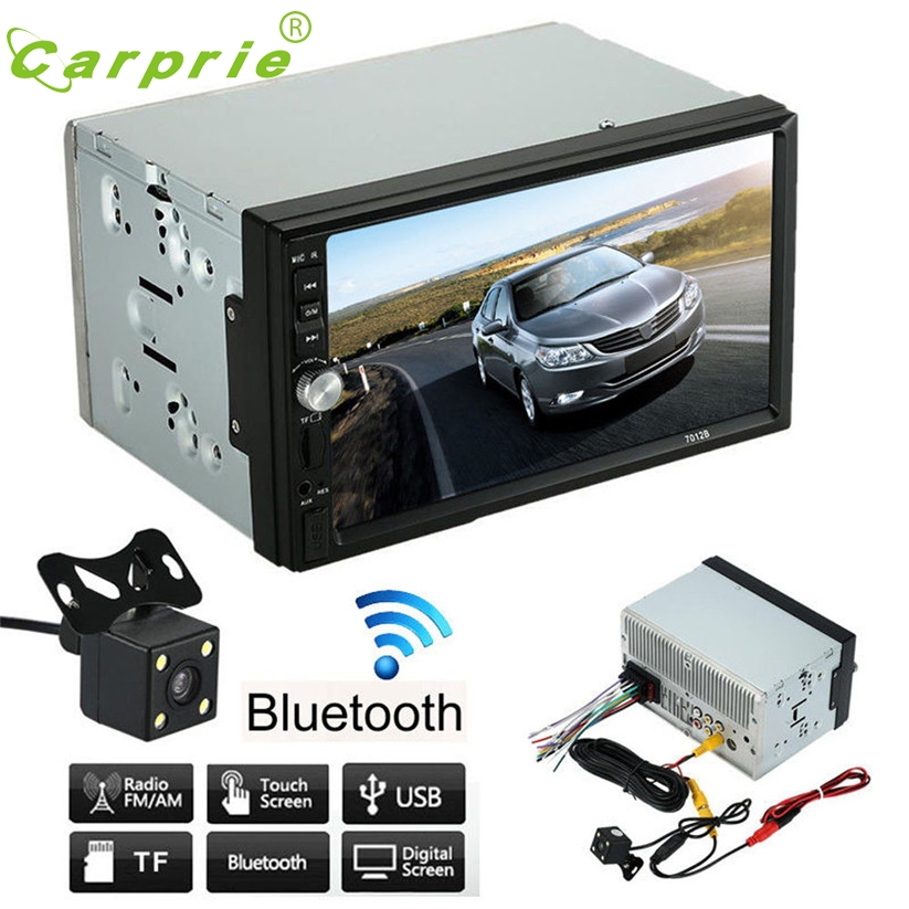 цена Double 2 Din Car Stereo MP5 MP3 Player Radio Bluetooth USB AUX + Parking Camera td18 dropship