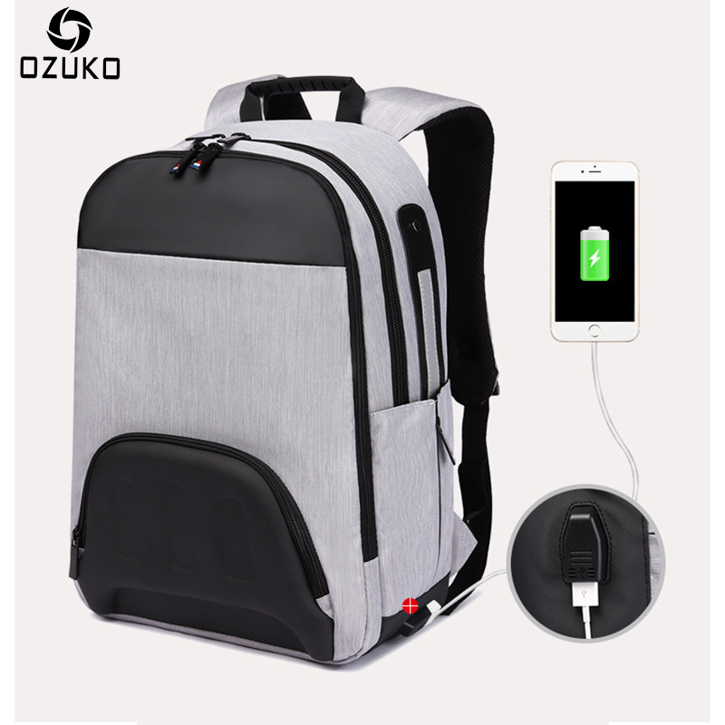 New USB Charge Fashion Men Backpack Large Capacity Laptop Backpack Casual School Bag for Teenage Waterproof Travel Male Mochila augur 2018 brand men backpack waterproof 15inch laptop back teenage college dayback larger capacity travel bag pack for male