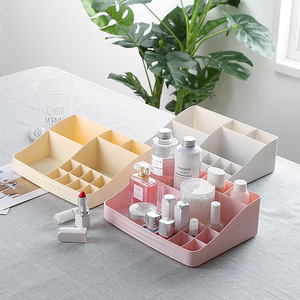 Image 3 - Makeup Organizer Cosmetics Plastic Storage Box Creative Skin Care Products Multi function Jewelry Desktop Dressing Organizador