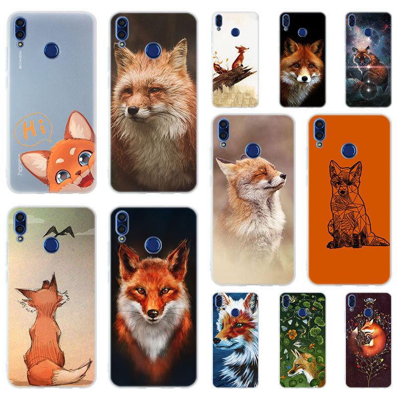 <font><b>Anime</b></font> fox funny foxs lovely cute Soft Case <font><b>Cover</b></font> For Huawei <font><b>Honor</b></font> <font><b>9</b></font> 10 <font><b>Lite</b></font> 6X 7X 8X Max Phone cases 7A 8A 8C V20 PLAY 10i image