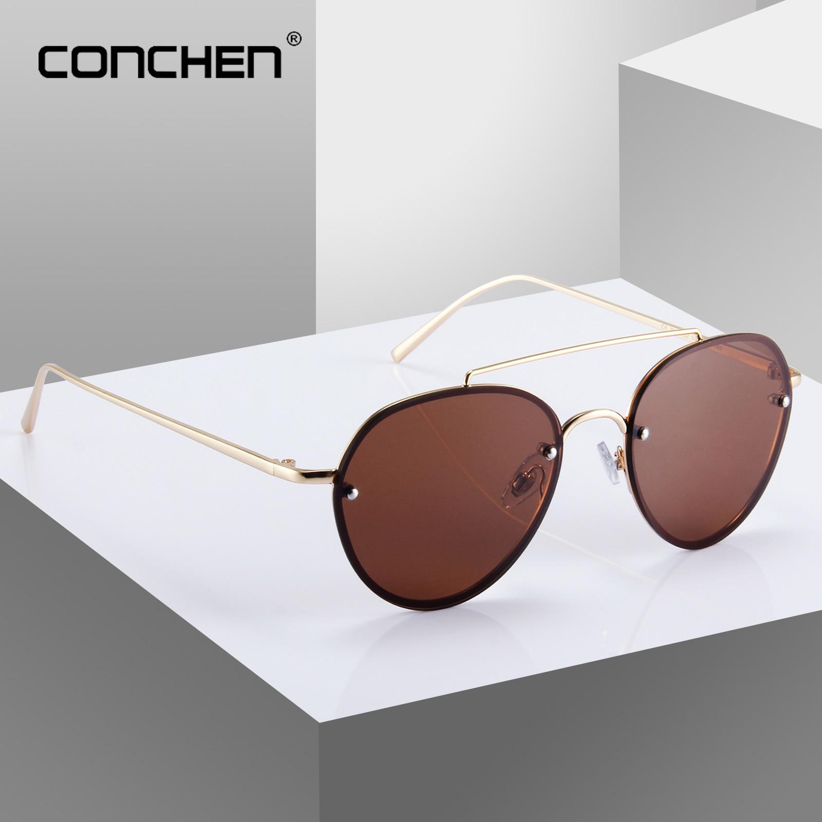 CONCHEN Pilot Men Driving Sun Glasses UV400 Alloy Frame Retro Mens Sunglasses 2019 New Arrival