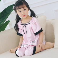 Girls Sleepwear Pyjama Children Home Clothes Wear2019 Summer Toddler Pajamas baby Kids Set Nightgown Sleepwear Pajamas недорого