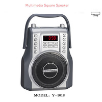 Fashion Multimedia Square Bluetooth2.1 Speaker Suitable for Dance Support Electric Guitar TF Card U Disk MP3 FM Radio Record
