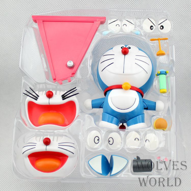 Doraemon Face Eye Changeable Anime Action Figure Collection toys for christmas gift Free shipping with retail box cute pet rare color sausage short hair dog action figure girl s collection classic anime christmas gift lps doll kids toys