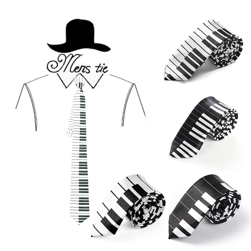 2inch Wide Fashionable 7 Piano Key Music Note Mix Necktie Polyester Woven Classic Men`s Male Party Wedding Tie Wholesale&Retail