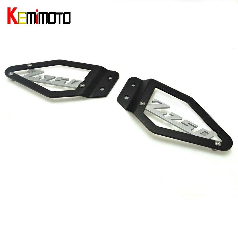 KEMiMOTO Z750 мотоцикл подножка каблук тарелки Guard протектор для Кавасаки З 750 2007 2008 2009 мотоцикл аксессуары