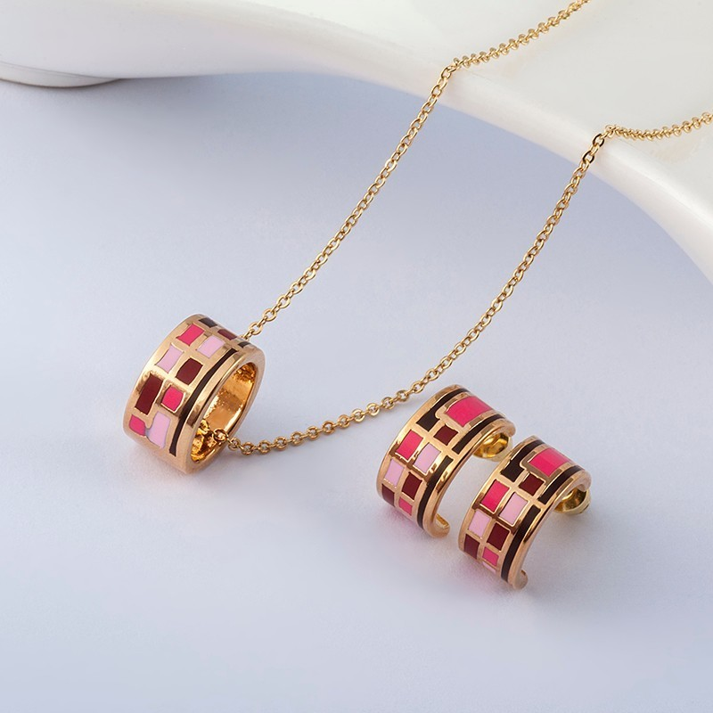 R&X Mode-sieraden Dubai Ensemble Bijoux Dames Jubileum Romantische ketting / oorbellen Klassieke sieradensets Trendy sieradensets