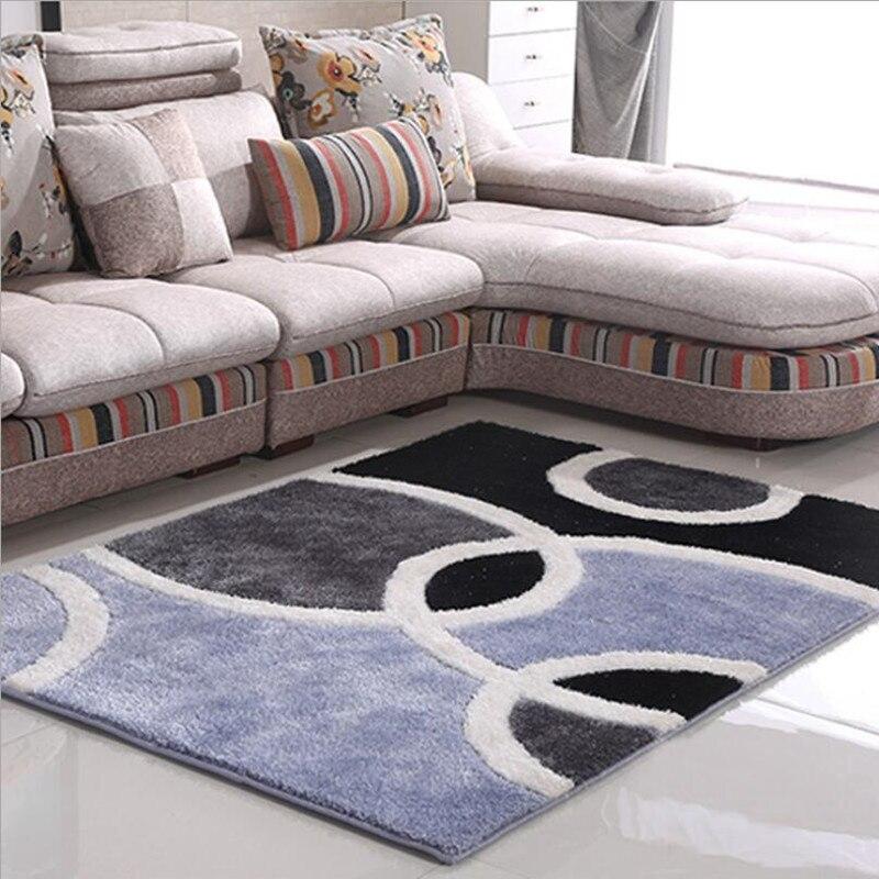 160 cm X 230 cm Rectangle moderne Simple Stretch soie tapis chambre chevet salon thé Table tapis peut être lavage en Machine