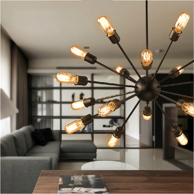 living room ceiling lights modern green accent chairs vintage american design bedroom foyer large lamp lighting black shade lamparas de techo in from