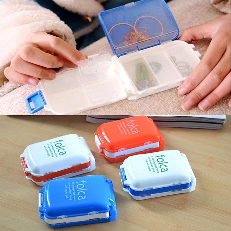 1pcs Pill Box Folding Vitamin Medicine Drug Container Pill Box Makeup  Storage Case Container Pill Organizer Box Case ZH065 In Pill Cases U0026  Splitters From ...