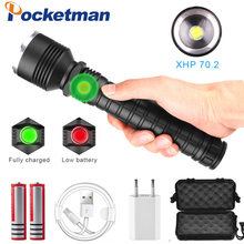 80000 Lumens LED Flashlight XHP70.2 Most Powerful Flashlight USB Zoom Led Torch XHP70 XHP50 18650 Battery Best Camping, Outdoor(China)