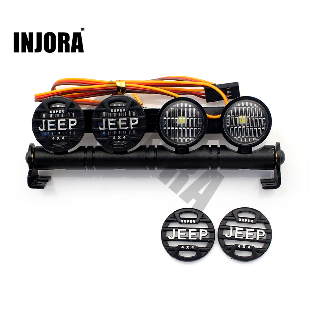 101MM Multi-function Bright LED Light Lamp Bar for RC Rock Crawler Axial SCX10 D90 Jeep Wrangler Tamiya Traxxas HPI HSP RC Car high power headlight system super bright led light lamp for rc car rc crawler aircraft boat
