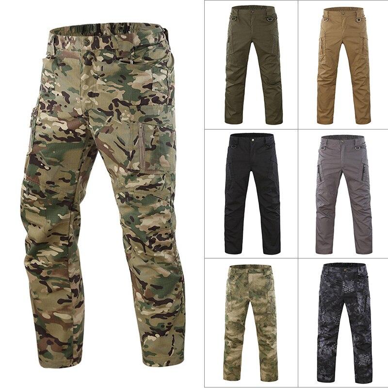 Adattabile Uomini Camo Cargo Pant Multi Tasche Casual Lavoro La Lotta Contro Pantaloni Asd88 Fresco In Estate E Caldo In Inverno