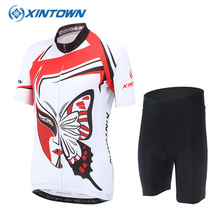 XINTOWN Estivo Breathable Ropa Ciclismo Mujer Maillot Short Sleeve Cycling Set Jersey Bike Clothing Quick Dry Bicycle Clothes