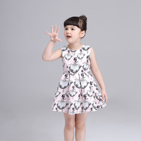 Girls Dress Summer New Kids Clothes Brand Floral Children Clothing For Princess Holiday Summer Wedding 2016
