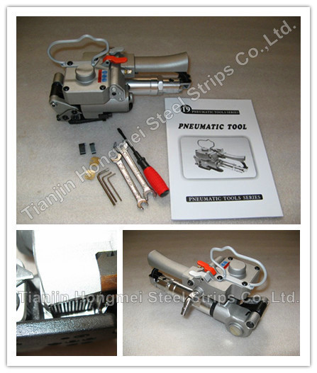Wholesale Guarantee100% New XQD-19 Pneumatic PP/PET strapping machine,PET/Plastic Strap Banding Tool for 13-19mm(Tension>=3000N)