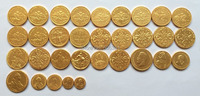 wholesale russia 24 K Gold plated 32 COINS Mixed date