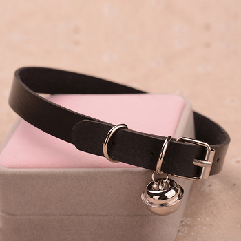 Charm PU Leather Small Bell Choker Necklace Punk Style Torques Women Gothic Club Cross Jewelry