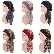 Casquette hijabs intérieure pour femme, imprimé florale, à la mode, foulard pour la tête, turban bonnet, prêt à porter, style islamique