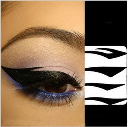 Black Eyes Sticker 4Pair Cat Style Eyeliner Sexy Temporary Double Eyeshadow Eyelid Tape Smoky Tattoo Eye Makeup Tools