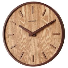 14 Inch Japanese Home Mute Wall Clock Living Room Bedroom Simple Modern Decoration Hanging Table Wood Quartz Clock Round