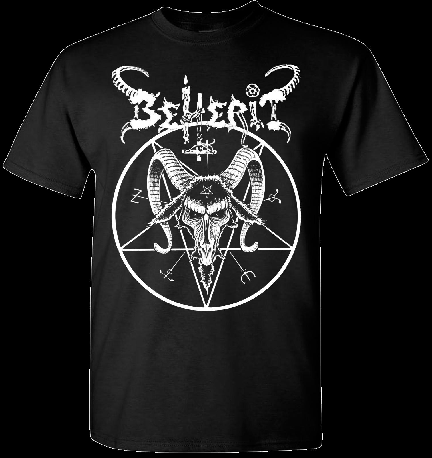 Beherit Pentagram T Shirt Black Metal Death Emperor Blasphemy Dark Throne T-Shirts