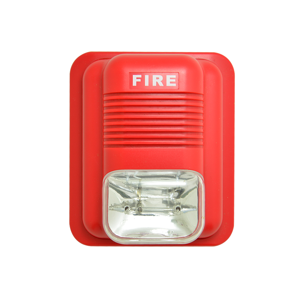(4 PCS) Fire Control Alarm Flash 12V 24V Wired Strobe Siren Push button Alarm security protection Indoor use 110DB 1 pcs 9 16vdc indoor wired siren with flash lamp security alarm accessories buzzer strobe siren anti theft free shipping