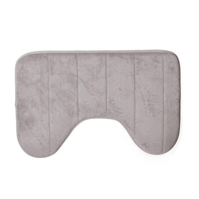 2017 1 PZ New 40*60 cm Prevalente Carino A Forma di U Tappetini Da Bagno morbido Pacche Antiscivolo Casa Bagno Tappetino Wc Tappeto decorazione