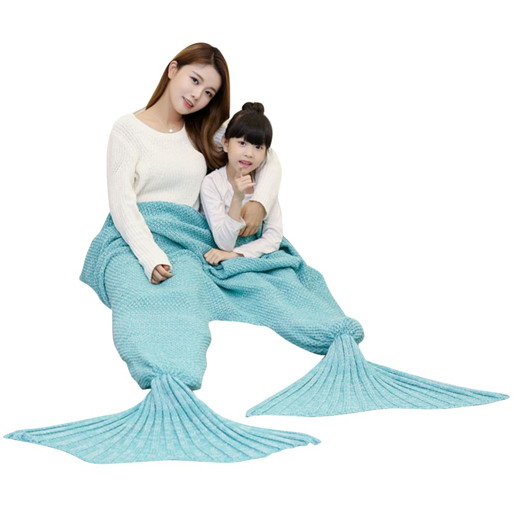 Soledi Mermaid Tail Blanket Crochet Mermaid Blanket Sofa Bed Sleeping Bag Fleece Blanket Knitted Blankets Air Conditioning Discounts Price Bedding