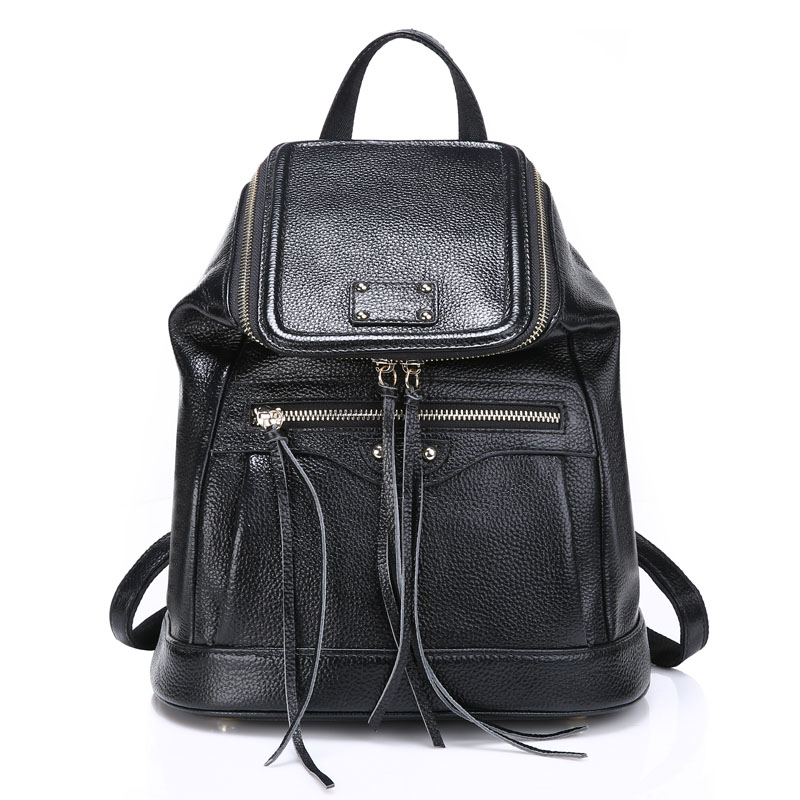 ZENCY Genuine Leather Women Backpacks Real First Layer Cow Leather Girl Bag Natural Leather Backpack School Bags zency fashion leather backpack real natural genuine leather women backpacks ladies girl school bag top layer cowhide mochila