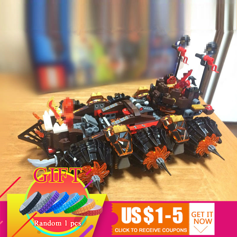 LEPIN 14018 Nexus Knights Siege Machine Model building kits compatible with legoED city 3D blocks Educational children toys