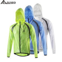 ARSUXED Cycling Raincoat Bicycle Jersey Mountain Bike Running Clothes Full Sleeve Jacket Windproof Waterproof Sports