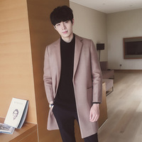 Heart yao's fall 2017 new men coat Han edition lapel in the long coat coat