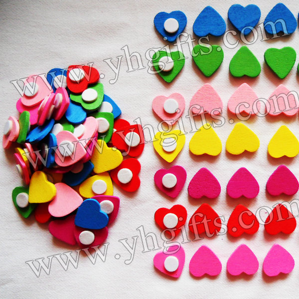 1000PCS/LOT.Wood heart stickers,1.8cm,Kids toys,scrapbooking kit,Early educational DIY.Kindergarten crafts.Classic toys.