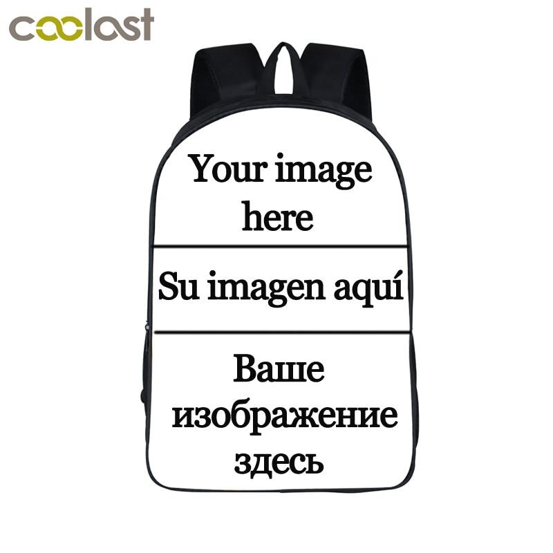Anpassen das bild Rucksack Frauen Männer Reisetaschen Anime Kinder Schultaschen Rucksack Jungen Mädchen Buch Tasche kinder Geschenk Rucksäcke