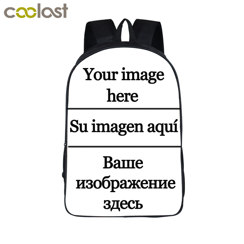 Personalizar la imagen mochila mujeres hombres Bolsas de viaje anime niños Mochilas y bolsas para el colegio mochila Niños Niñas libro bolso niños regalo mochilas
