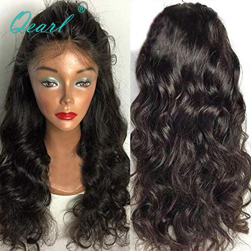 Волнистые полное кружева натуральные волосы парики Фристайл предварительно выщипать естественно волосяного покрова бразильский Волосы