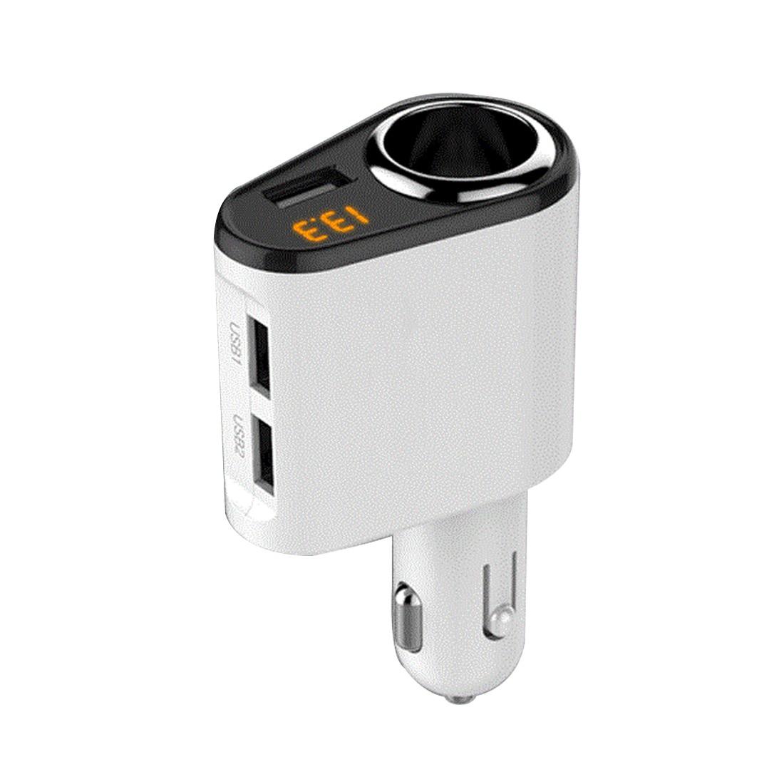 Etmakit Useful Car Charger 3 USB Ports 5V 3.1A Car-Charger 1 Socket Cigarette Lighter Splitter Quick Charger for Mobile Phone