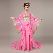 Ancient imperial concubine tail fairy Tang Costumes ancient womens clothing Han clothes female princess dance