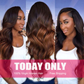 Ombre peruvian hair 1b/33# peruvian Body Wave 3pcs/lot, ombre human Hair weave 8A She Hair Products mink Peruvian Virgin Hair