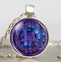 Steampunk Black Butler Purple Tetragrammaton Anime Pendant New Necklace 1pcs/lot mens handmade jewelry dr who chain