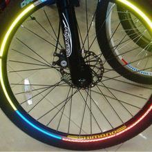 Новая горячая флуоресцентная MTB велосипедная наклейка для велосипеда велосипедная обод колеса Светоотражающая наклейка s Наклейка для Спортивная одежда для видов спорта на открытом воздухе